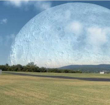 Jak by vypadal Měsíc, kdyby byl ve vzdálenosti 400km od Země