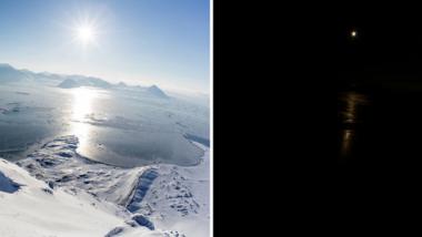 Úplné zatmění slunce na Spitsbergen